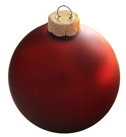 "3.25"" Bordeaux Ball Ornament - Matte Finish"