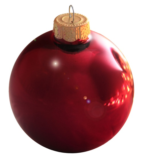 "4"" Bordeaux Ball Ornament - Shiny Finish"
