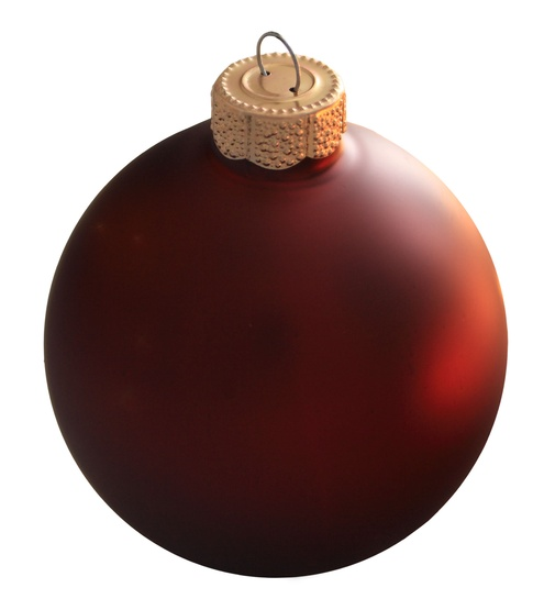 "4"" Burgundy Ball Ornament - Matte Finish"