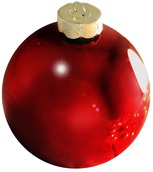 "4"" Burgundy Ball Ornament - Shiny Finish"