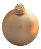 "4"" Champagne Ball Ornament - Matte Finish"