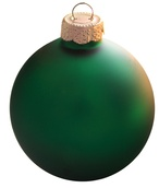 "7"" Christmas Green Ball Ornament - Matte Finish"