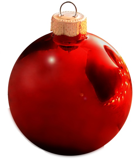 "4.75"" Christmas Red Ball Ornament - Shiny Finish"