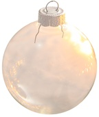 "1.25"" Clear Ball Ornament - Transparent Finish"
