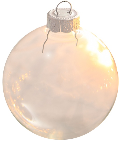 "3.25"" Clear Ball Ornament - Transparent Finish"
