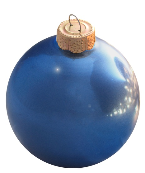 "1.25"" Cobalt Blue Ball Ornament - Shiny Finish"