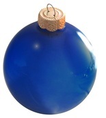 "7"" Cobalt Blue Ball Ornament - Pearl Finish"