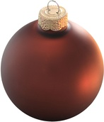 "3.25"" Cocoa Ball Ornament - Matte Finish"