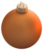"4"" Cognac Ball Ornament - Matte Finish"