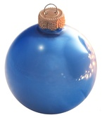 "3.25"" Delft Blue Ball Ornament - Pearl Finish"