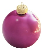 Dusty Rose Glass Ball Christmas Ornament