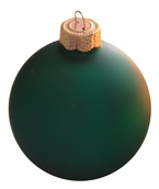 "4"" Emerald Ball Ornament - Matte Finish"