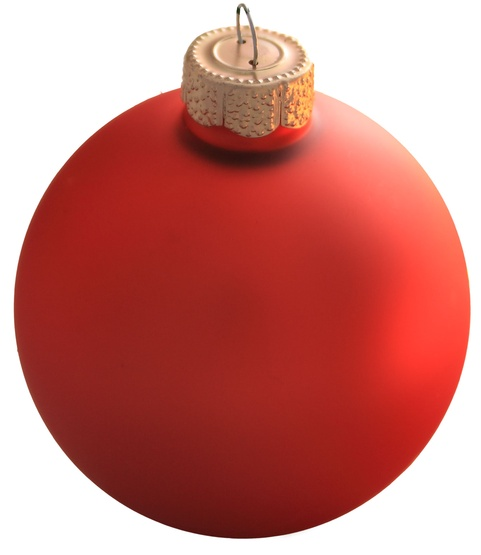 "4"" Fire Orange Ball Ornament - Matte Finish"