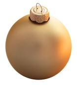 "4"" Gold Ball Ornament - Matte Finish"