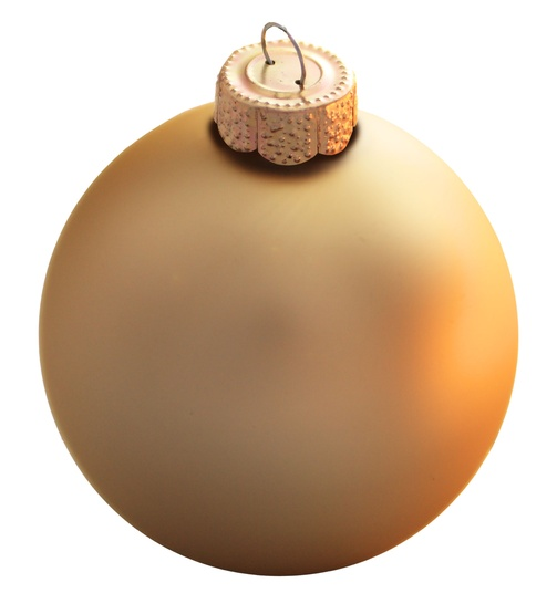 Gold Glass Ball Christmas Ornament