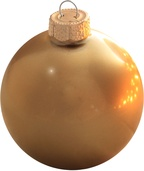 "3.25"" Gold Ball Ornament - Metallic Finish"