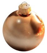 "3.25"" Gold Ball Ornament - Shiny Finish"