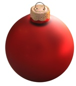 "1.25"" Henna Ball Ornament - Matte Finish"