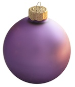 "4"" Lilac Ball Ornament - Matte Finish"