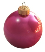 "1.5"" Lipstick Ball Ornament - Shiny Finish"