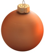 "2.75"" Mandarin Ball Ornament - Matte Finish"