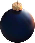 Midnight Blue Glass Ball Christmas Ornament