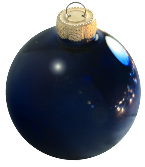 "2"" Midnight Blue Ball Ornament - Shiny Finish"