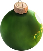 Moss Green Glass Ball Christmas Ornament