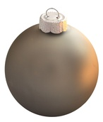 "7"" Pewter Ball Ornament - Matte Finish"