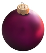 Plum Glass Ball Christmas Ornament