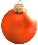 "1.5"" Pumpkin Ball Ornament - Matte Finish"