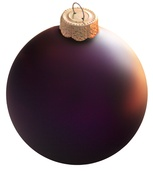 "4"" Purple Ball Ornament - Matte Finish"