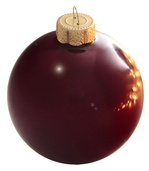 "4"" Purple Ball Ornament - Pearl Finish"