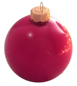 "4"" Raspberry Ball Ornament - Pearl Finish"