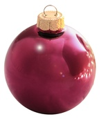 "4"" Raspberry Ball Ornament - Shiny Finish"