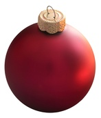 Raspberry Glass Ball Christmas Ornament