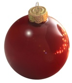 "4"" Rubine Ball Ornament - Shiny Finish"