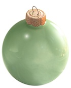 "3.25"" Shale Green Ball Ornament - Pearl Finish"