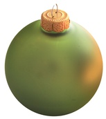 Shale Green Glass Ball Christmas Ornament