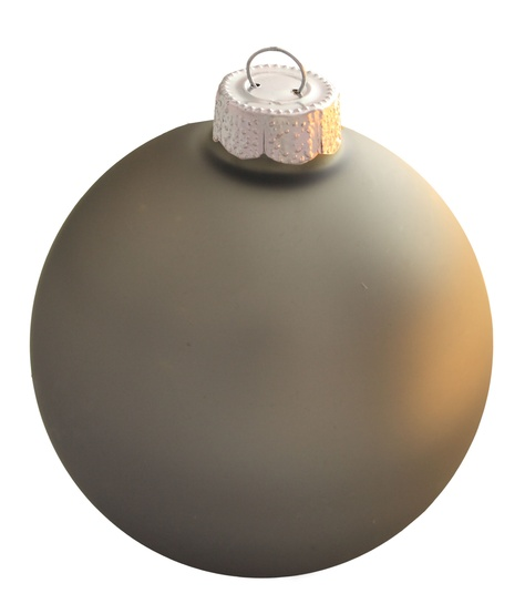 "4.75"" Silver Smoke Ball Ornament - Matte Finish"