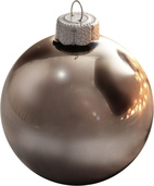 "1.5"" Silver Smoke Ball Ornament - Shiny Finish"