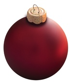 Soft Berry Glass Ball Christmas Ornament