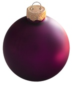 Soft Grape Glass Ball Christmas Ornament