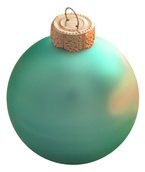 "3.25"" Soft Green Ball Ornament - Matte Finish"