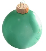 "4"" Soft Green Ball Ornament - Pearl Finish"