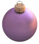 Soft Lavender Glass Ball Christmas Ornament