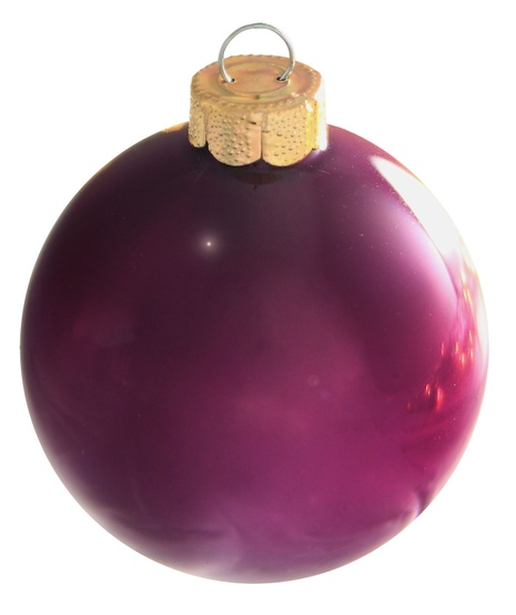 "7"" Soft Plum Ball Ornament - Pearl Finish"