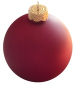 "7"" Soft Rose Ball Ornament - Matte Finish"