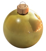 "3.25"" Soft Yellow Ball Ornament - Shiny Finish"