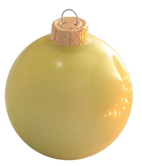 "4"" Soft Yellow Ball Ornament - Pearl Finish"